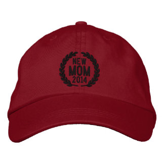 Customizable YEAR for New Mom Laurels Embroidery Embroidered Baseball Hat