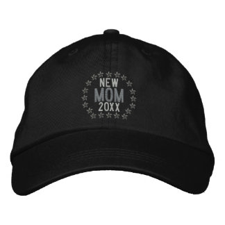 Customizable YEAR for New Mom Stars Embroidery Embroidered Baseball Hat