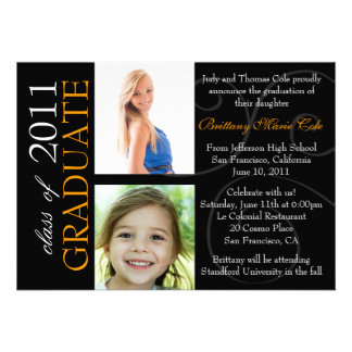 Customizable Year Graduate Photo Announcement