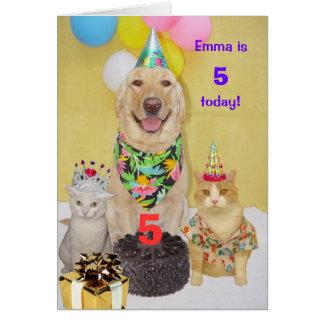 Customizable Year Kid's Birthday Greeting Card