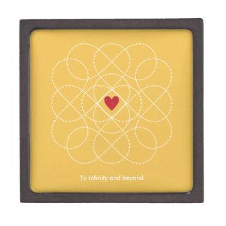 Customizable Yellow and White Infiniti Love Premium Keepsake Box