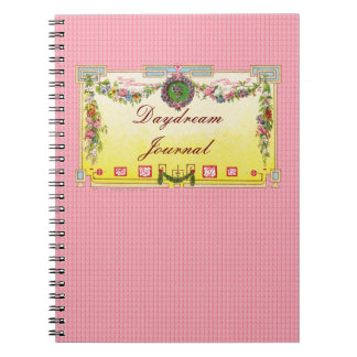Customizable Yellow & Blue Antique French Perfume Notebook
