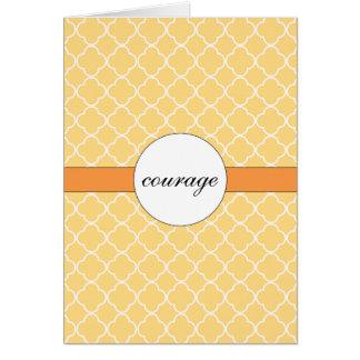 Customizable Yellow Quatrefoil Pattern Card