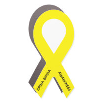 Customizable Yellow Ribbon Awareness Car Magnet