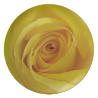 Customizable Yellow Rose Plate fuji_plate