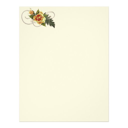 "CUSTOMIZABLE Yellow Roses 8.5"" X 11"" Flyer"