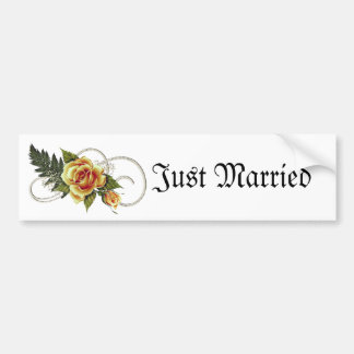 CUSTOMIZABLE Yellow Roses Car Bumper Sticker