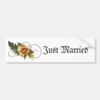 CUSTOMIZABLE Yellow Roses Bumper Sticker