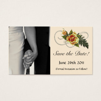 CUSTOMIZABLE Yellow Roses Business Card
