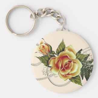CUSTOMIZABLE Yellow Roses Key Chain