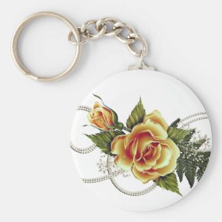 CUSTOMIZABLE Yellow Roses Keychain