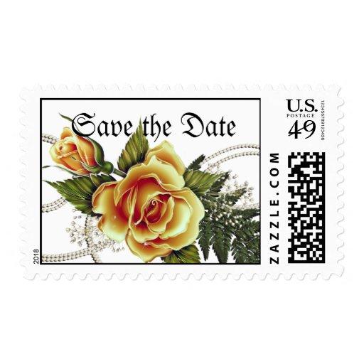 CUSTOMIZABLE Yellow Roses Stamp