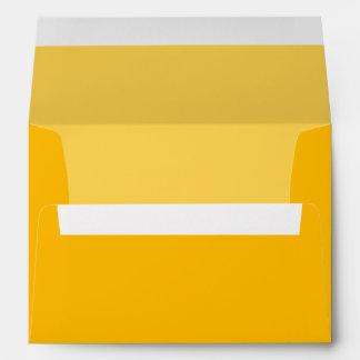 Customizable Yellow Wedding Invitations Envelopes