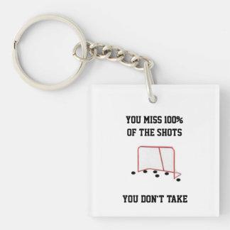 Customizable You Miss 100% Shots Key Chain