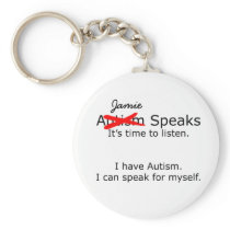 Customizable You Speak Autism Keychain