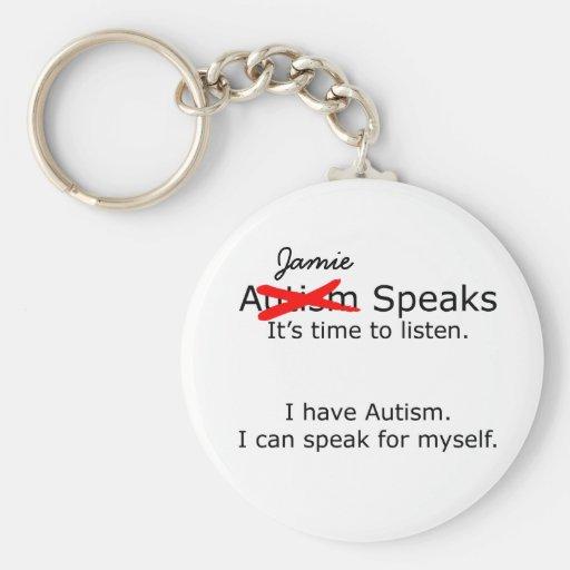 Customizable You Speak Autism Keychain