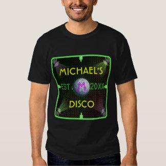 Customizable Your Name 1970's Disco Ball Tee Shirt