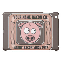 Customizable (YOUR NAME) Bacon Company iPad Mini Cover