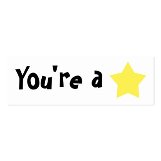 """Customizable """"You're A Star"""" Mini Bookmarker Business Card Template"""