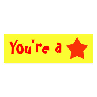 """Customizable """"You're A Star"""" Mini Bookmarker Double-Sided Mini Business Cards (Pack Of 20)"""