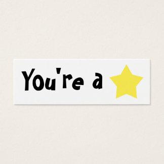 "Customizable ""You're A Star"" Mini Bookmarker Mini Business Card"