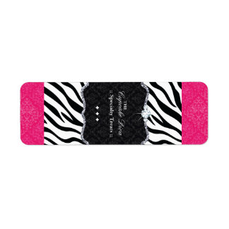 Customizable Zebra Print Chocolate Nougat Wrappers Labels