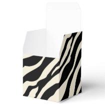 Customizable Zebra Print Favor Box