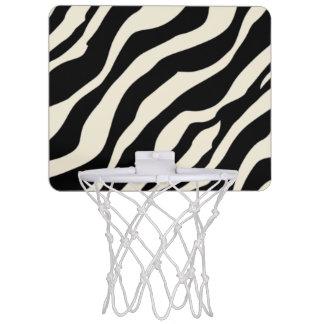 Customizable Zebra Print Mini Basketball Hoop