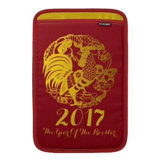 Customizable Zodiac 2017 Rooster Year MacBook Sleeve