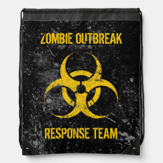 Customizable Zombie Outbreak Response Team Cinch Bag