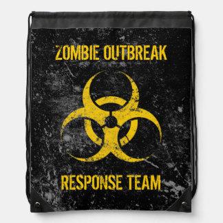 Customizable Zombie Outbreak Response Team Drawstring Bag