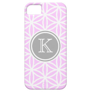 Customizble Pink and White FOL Design iPhone SE/5/5s Case