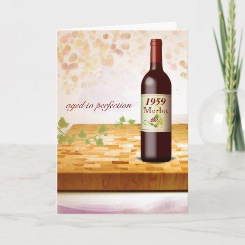Customize_a_Birth_Year Wine Themed Birthday Card
