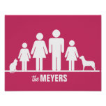 Customize a Family of Four Poster
