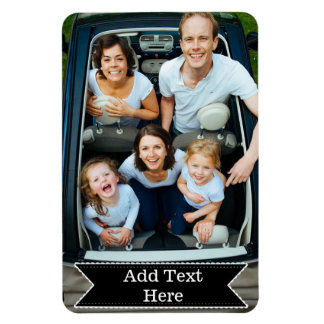 Customize a Family Photo Magnet Add Text