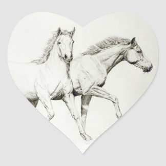 Customize a Horse Heart Sticker