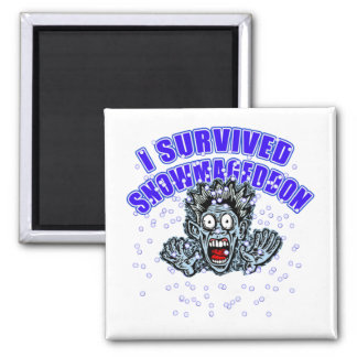 Customize a SNOWMAGEDDON Tshirt or Hoodie 2 Inch Square Magnet