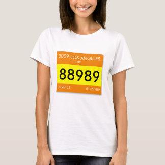 Customize a unique shirt with your race bib info!