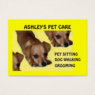 Customize-able Pet Care Business Cards