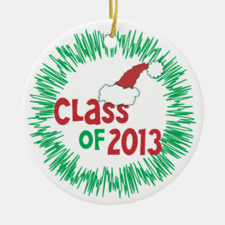 CUSTOMIZE Add Photo - Class of 2013 Holiday Ceramic Ornament