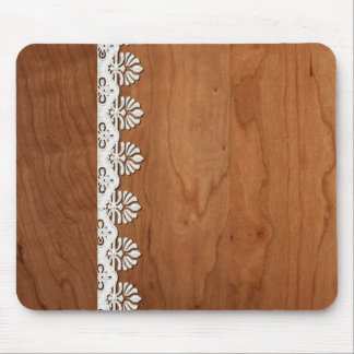 Customize Add Text Wood and Lace Mouse Pad