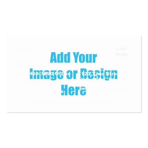"""(Customize) Add """"Your"""" touch with images and text. Business Cards"""