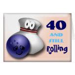 Customize Age bowling birthday Greeting Card