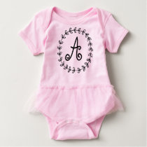 Customize and personalized monogram baby suite. baby bodysuit