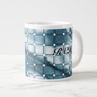 Customize Aqua Basket Weavers Do It With Fiber Large Coffee Mug