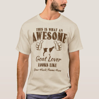 CUSTOMIZE Awesome Goat Lover LaMancha Goat T-Shirt