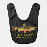 Customize Baby Fly Fishing Brook Trout Baby Bib