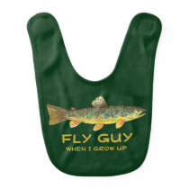 Customize Baby Fly Fishing Brown Trout Bib