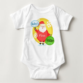 Customize Baby's First Christmas Bodysuit