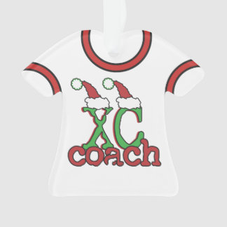 Customize Back Cross Country Coach Christmas Ornament
